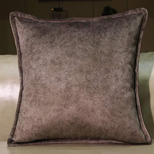 H/A Tecnología Almohada Tela de la Funda de Almohada Cojines del sofá de Terciopelo de Color de Alto Grado sólidos en la Sala de Estar sillón Cama Almohada Lumbar casa MENGN (Color : 5)