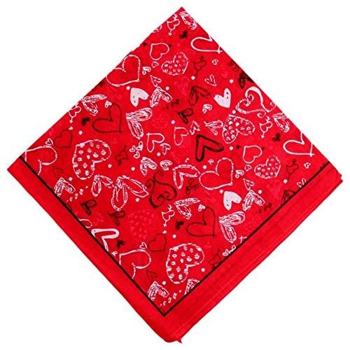 Lichtgewicht Hot Tekening van het Potlood Hartsymbool Print Hoofddoek Face handdoek Cotton plein hoofdband Hip Hop Multifunctionele Verpakt Hair Das (Color : 2)