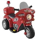 FTVOGUE- Moto Juguete Batería 6V para Niños 3-6 Años, Rojo