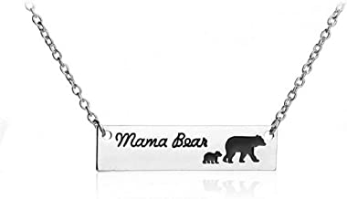 Fashion Charm Women Necklace Jewelry Mama Bear Necklace A Mother Bear and A Group of Baby Bear 1-6 Style Pendant Necklace