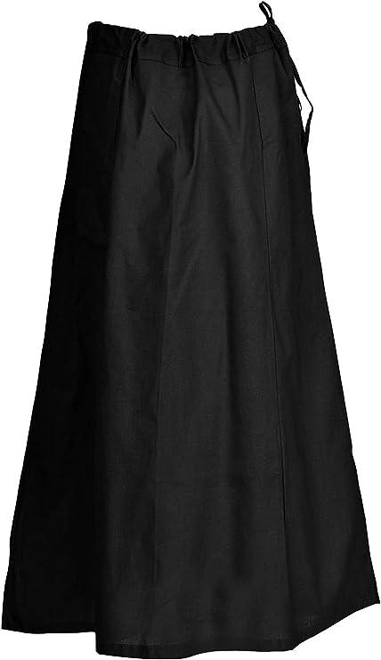 Steampunk Skirts | Bustle Skirts, Lace Skirts, Ruffle Skirts Indian Trendy Sari Petticoat Cotton Stitched Adjustable Waist Saree Underskirt Lining Skirt  AT vintagedancer.com