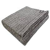 Craft Story Decke Yara I Uni schwarz-Weiss aus 100prozent Baumwolle I Tagesdecke I Sofa-Decke I Überwurf I Picknickdecke I Nutz- und Schutzdecke I ca.170 x 220cm
