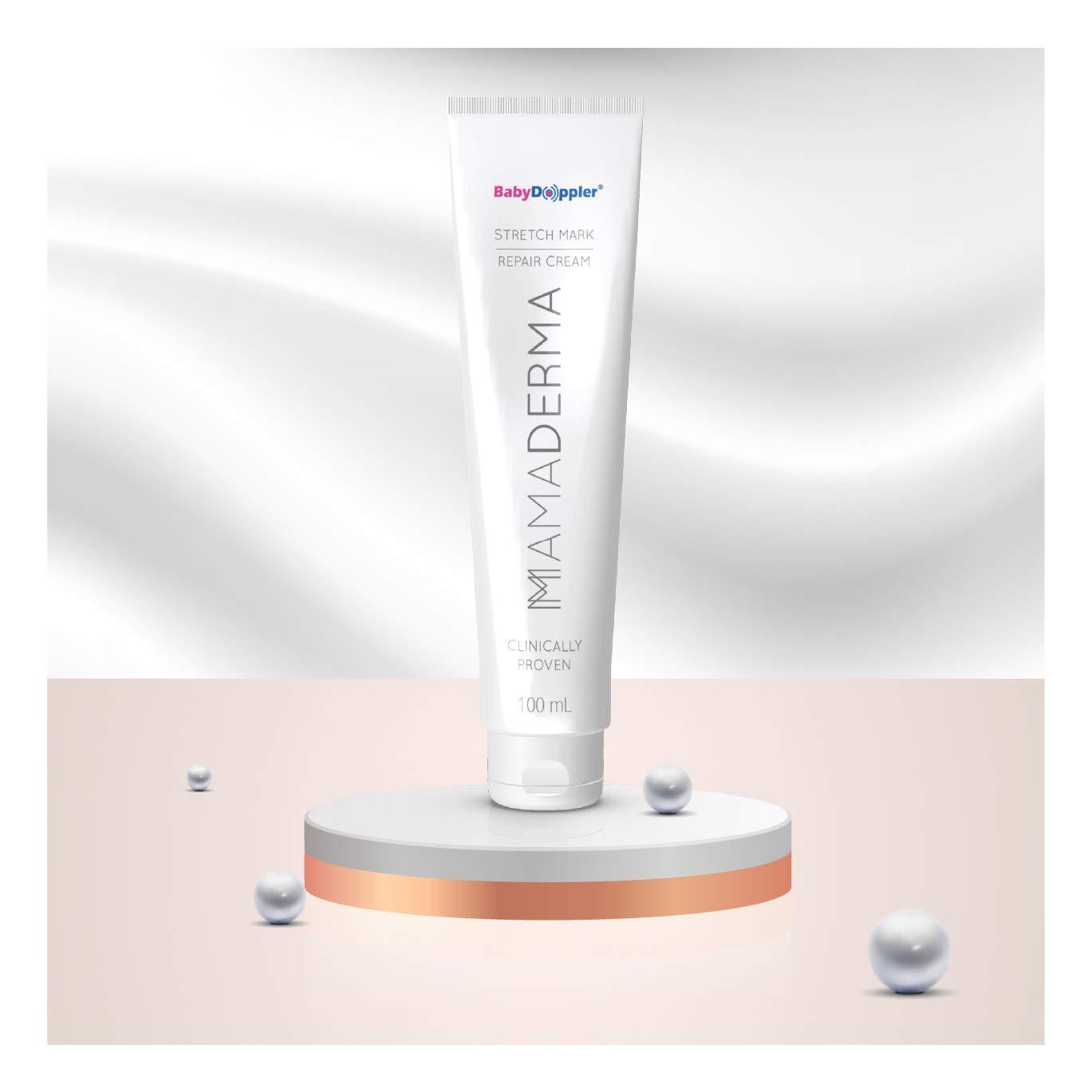 MamaDerma Stretch Mark Repair Cream with Roller Head by Baby Doppler - 100 ml