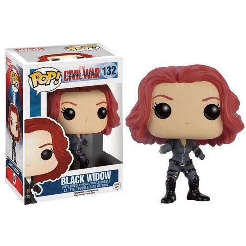 Funko POP!: Marvel: Captitán América: Civil War: Viuda Negra