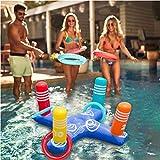 QSs- Juegos de férulas inflables Juguetes Juegos de Lanzamiento de Anillo Juguetes Flotante Flotante Férula Inflable Balsas de Piscina Juegos inflables para Jugar al Aire Libre Juguetes