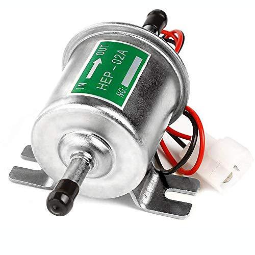 Litensh Universelle elektrische Kraftstoffpumpe, Hochleistungs-Absperrung, Druck, Gas, Diesel, Inline-Niederdruck, Metallpumpe, Modul, Befestigungsdraht, Inline für Benzin und Diesel HEP-02A