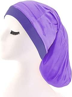 Spandex Pleated Turban Dreadlock Braids Bonnet Cylinder Sleeping Cap Baggy Hat for Hair Loss Men Women
