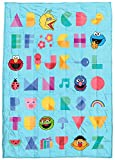 Sesame Street Alphabet Gang Weighted Blanket 5 lbs - Measures 36 x 48 inches, Kids Bedding Features Elmo & Cookie Monster - Fade Resistant Super Soft Velboa (Official Sesame Street Product)