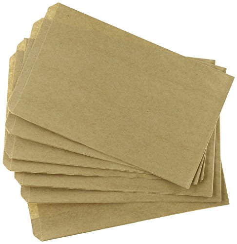 150 Brown Kraft Paper Bags, 5 x 7.5 Inches, Flat Bags for Merchandise, Candy Buffets, by My Craft Supplies