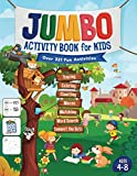 Jumbo Activity Book for Kids: Over 321 Fun Activities For Kids Ages 4-8 | Workbook Games For Daily Learning, Tracing, Coloring, Counting, Mazes, Matching, Word Search, Dot to Dot, and More!