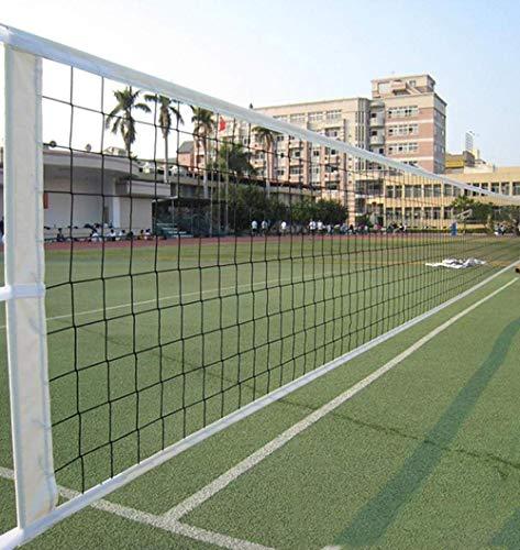 Volleyballnetz 9.5 * 1M Tragbares Volleyball Net Standard-Volleyballnetz mit Stahl Seil Faltbares Offizielle Standardgröße Indoor Outdoor Garten Strand Sport Net