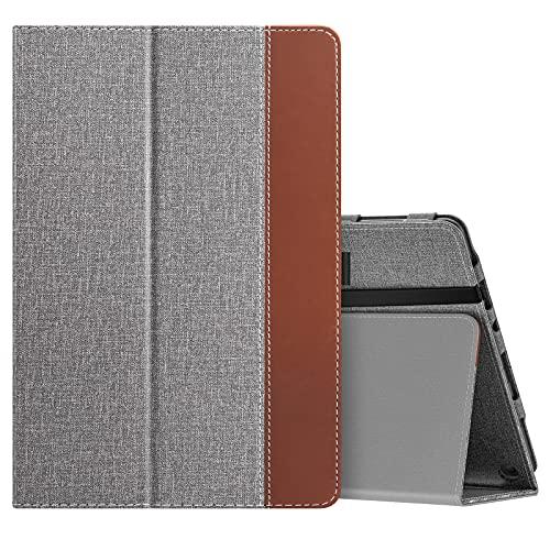 MoKo Funda Compatible con Nueva Fire HD 10 y 10 Plus Tableta (11ª Generación, Versión 2021), Delgada Cubierta con Soporte Plegable Smart Cover Case con Auto Reposo/Estela, Gris del Jeans