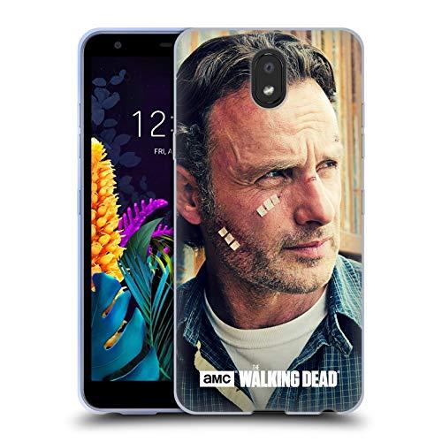 Officiële AMC The Walking Dead Snijwonden En Verbanden Rick Grimes Soft Gel Case Compatibel voor LG K30 (2019)