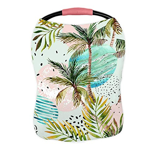 Buy ABPHQTO Palm Tree Leaf Marble Grunge Doodle Textured Circles Nursing Cover Baby Breastfeeding In...