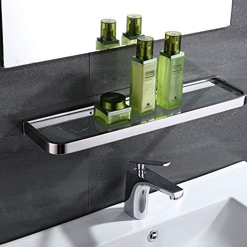 Celbon badkamer plank douche 304 roestvrij staal en glas douchecabine muur gemonteerd glas plank chroom rechthoekig roestvrij... 50cm
