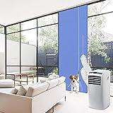 Minterest Kit Ventana Aire Acondicionado Portatil, Aire Acondicionado Azul de 210x90 CM Secadora de...