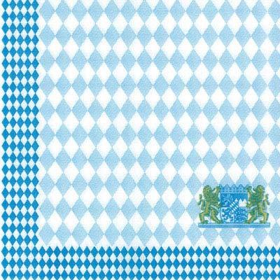 HANTERMANN Servietten Oktoberfest blau Premium Airlaid STOFFÄHNLICH   50 Stück   40 x 40cm   1/4 Falz   hochwertige Oktoberfestservietten, Bayern, Deko   Made in Germany