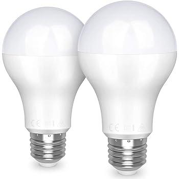 Awenia Bombilla LED Esférica E27 20W (Equivalente a 150W), Luz LED 3000K 2452 Lúmenes Blanco Cálido, Pack de 2: Amazon.es: Iluminación