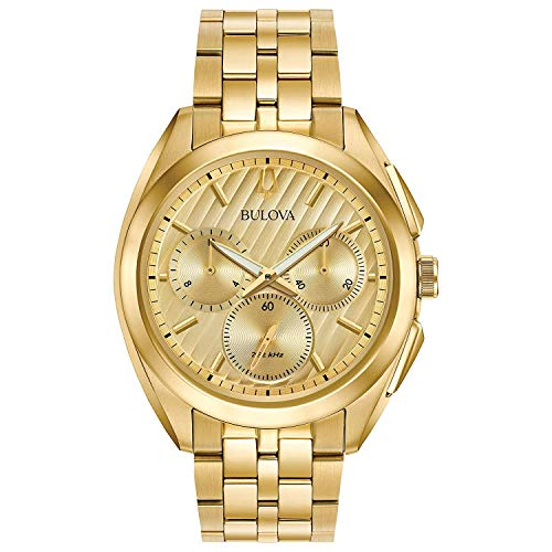 Bulova Herren Analog Quarz Uhr mit Edelstahl Armband 97A125