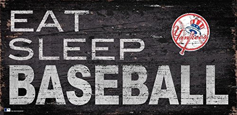 Fan Creations New York Yankees 12x6 Eat,Sleep Baseball Wood Sign