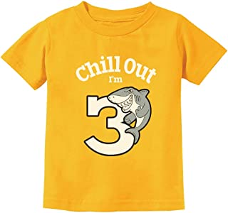 Gift for 3 Year Old Boy Girl Chill Out Shark 3rd Birthday Toddler Kids T-Shirt
