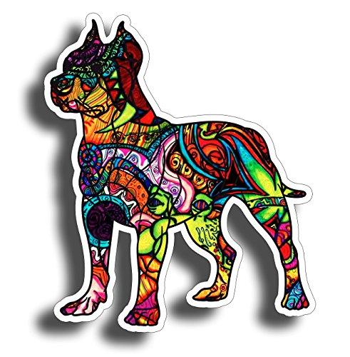 Graffiti Pitbull Dog Bumper Sticker Decal 4 Inch Custom Printed Full Color Design for Car Truck Vehicle Laptop Pit Bull