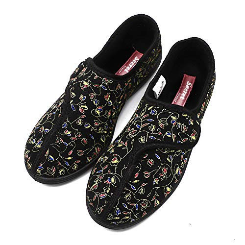 Women's Wide Adjustable Diabetic Shoes Orthopedic Slippers