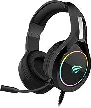 سماعة جيم نوت H2232D مضيئة بألوان الطيف أر جى بى مخصصة للألعاب للكمبيوتر و البلاى ستيشن 4 و الأكس بوكس من هافيت