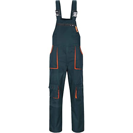Yukirtiq Classic Painters Work Wear Bib and Brace Dungaree Overalls, Workwear Breathable Pants, Heavy Duty Polycotton Work Trousers