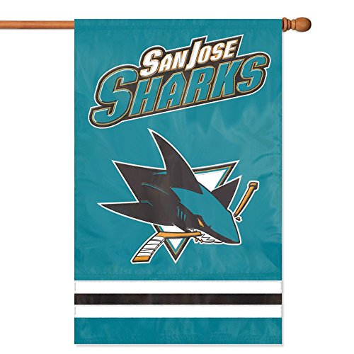 NHL 2-Sided Appliqué Banner Flag, San Jose Sharks