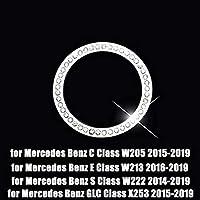 メルセデス ・ ベンツc cls glc W205 W212 W213 W222 W218 X253 車アクセサリー中央時計テーブル腕時計リングトリムダイヤモンドカバー-Round