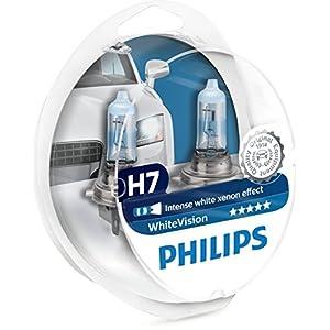 Philips WhiteVision 12972WHVSM - Bombilla Para Faros Delanteros (Efecto Xenon H7), 3700 K, Pack 2 UnidadesPhilips WhiteVision 12972WHVSM -…