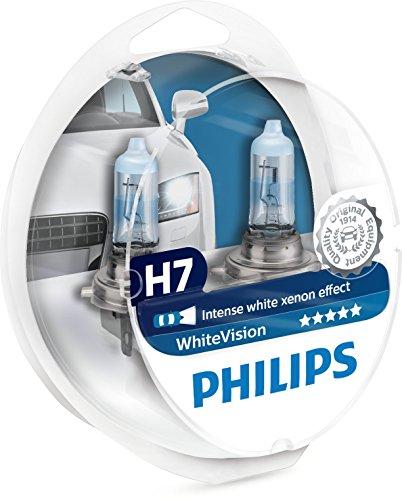 Philips 12972WHVSM WhiteVision Xenon Effect H7 Faros de lámpara, paquete doble