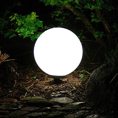Dapo Außen-Garten-Kugel-Leuchte-Lampe Marlon 20cm, IP44, Boden-Terrassen-Balkon-Blumenbeet-Teichrand-Treppen-Rasen-Wege-Pool-Party-Dekorations-Leuchte-Lampe