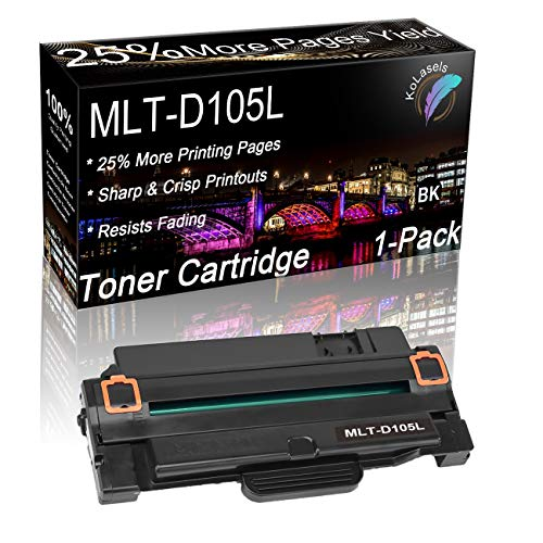 Price comparison product image Kolasels Compatible Toner Cartridge (Black, 1- Pack) Replacement for Samsung 105L MLT-D105L Toner to use with ML-1915,  ML-1910,  ML-2525,  ML-2545,  ML-2580N,  SCX-4600,  SCX-4623FN,  SF-650P Printer