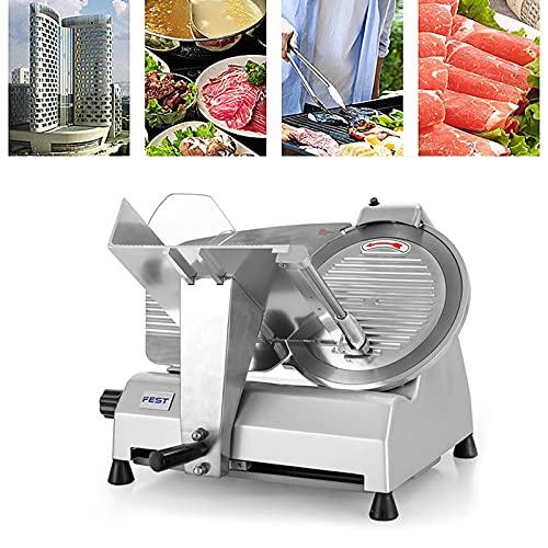Cortafiambres Eléctrico, Cortadora De Carne para El Negocio O El Hogar, Ajuste De Grosor De 0 a 17 Mm, La Carrera De Corte Es De 18,5 Cm, para Carne, Queso, Pan, Verduras