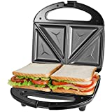 OSTBA Sandwich Maker, Toaster and Electric Panini Press with Non-stick plates, LED Indicator Lights, Cool...