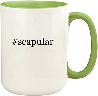 #scapular - 15oz Hashtag Ceramic Colored Handle and Inside Coffee Mug Cup, Light Green