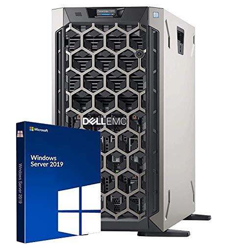 Dell PowerEdge T340 Tower Server, Windows 2019 STD OS, Intel Xeon E-2124 Quad-Core 3.3GHz 8MB, 32GB DDR4 RAM, 8TB Storage, RAID, Single PSU (Renewed)