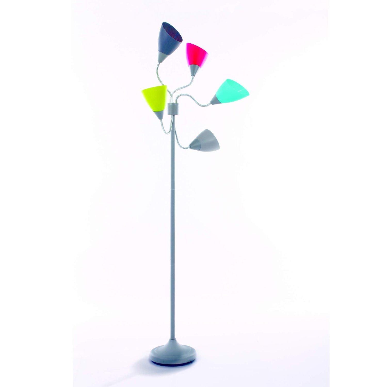 Lámpara de pie con 5 focos articulados y orientables de varios colores: Amazon.es: Hogar