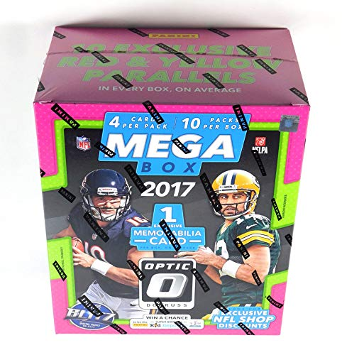 2017 Donruss Optic NFL Football Factory Sealed Mega Box (10 Packs) Possible Patrick Mahomes Rookie