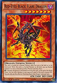 Yu-Gi-Oh! - Red-Eyes Black Flare Dragon (LDK2-ENJ02) - Legendary Decks II - 1st Edition - Common