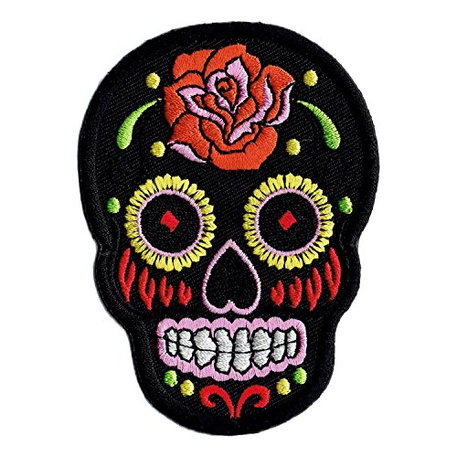 Calavera Candy B Embroidered Iron On Patch Skull Mexican Sugar