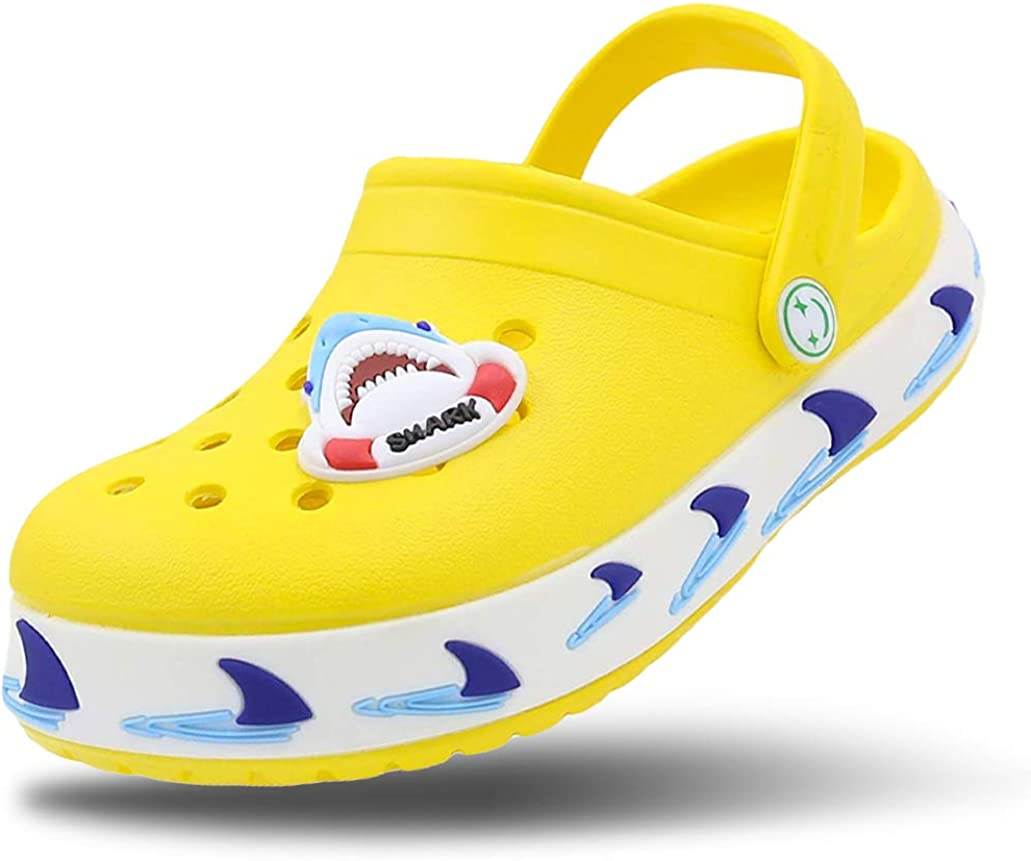 FolHaoth Little Kids Clogs Sandals Cute Cartoon Toddlers Boys Girls Garden Clogs Non-Slip Breathable Slides Sandals Slip-on Beach Pool Shower Slippers