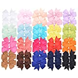40 Pieces 3 inches Baby Girls Hair Bows Clips...