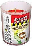 Compo Repelente Barrera de Insectos Vela Stop Moscas, Perfumada, Cristal, 30h, 130 g