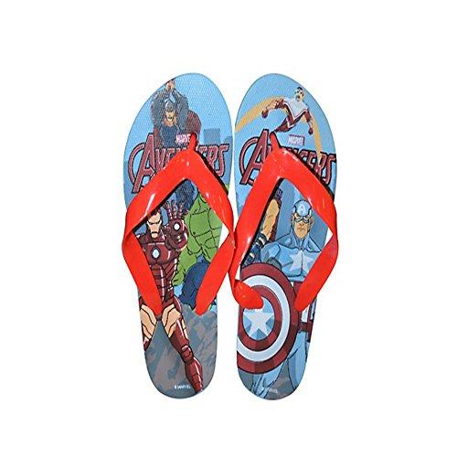 Disney Tongs Disney La Reine des neiges Mickey Sofia Cendrillon Spiderman Avenger - Bleu - Avengers, 25/26 EU