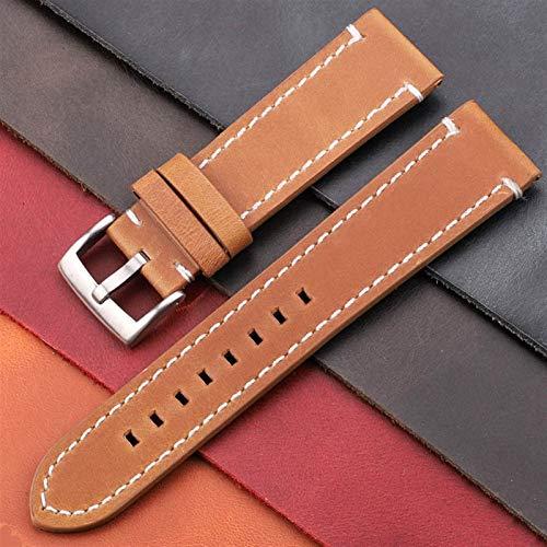 ZHONGGOZZ Cintas de Cuero Genuino de la Vendimia 7 Colores cinturón 18 mm 20 mm 22 mm 24 mm Mujeres Hombres Hombres de Cuero Reloj de Cuero de la Correa de la Correa Accesorios