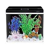 YZERTLH Creative Fish Tank Aquarium Small Desktop Home Office Ecological Glass Fish Tanque Ornamental Fish Tank Tank Plant Tank