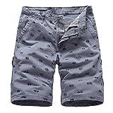 YOYVV Pantalones Cortos para Hombre Summer Bike Print Casual Pantalones Cortos hasta la Rodilla Sueltos Camuflaje...